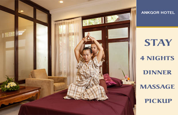 4 Nights Dinner Massage + Airport Pickup
